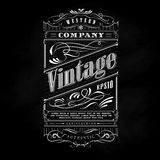 Vintage western hand drawn frame label blackboard typography. Border vector illustration Stock Photo