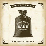 Vintage Western Money Bag Royalty Free Stock Image