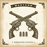 Vintage Western Revolvers Stock Images