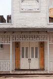 Vintage western saloon hotel wooden front door Royalty Free Stock Photography