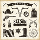 Vintage Western Set Stock Photography