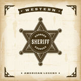 Vintage Western Sheriff Badge Royalty Free Stock Photography