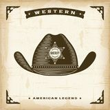 Vintage Western Sheriff Hat Royalty Free Stock Photography