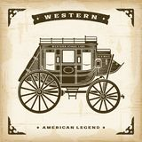 Vintage Western Stagecoach stock illustration