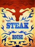 Vintage western Steak House Poster Royalty Free Stock Photo