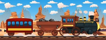 Vintage western train Stock Photos