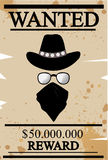 Vintage western wanted poster Royalty Free Stock Photography