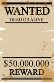 Vintage western wanted poster Royalty Free Stock Images