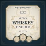 Vintage western whiskey label package Stock Images