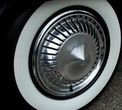 Vintage Wheel. And whitewall tire Royalty Free Stock Photos