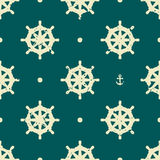 Vintage wheel seamless pattern Stock Photography