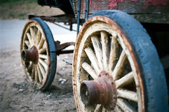 Vintage wheels. A set of vintage stagecoach wheels Royalty Free Stock Image