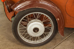 Vintage wheels cars. In thailand Royalty Free Stock Photo