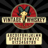 Vintage Whiskey Label Font Poster Royalty Free Stock Photography