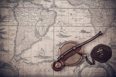 Vintage  whistle of the boatswain. Royalty Free Stock Photos
