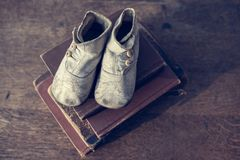 Vintage Baby Shoes Royalty Free Stock Photo