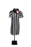 Vintage White and Black Stripe Fur Coat Royalty Free Stock Images