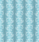 Vintage white and blue pattern Stock Photo