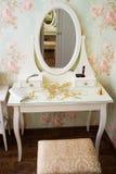 Vintage white boudoir Stock Photos