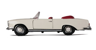 Vintage white car cabriolet Royalty Free Stock Image