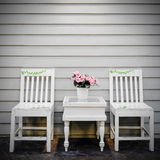 Vintage white  chair Royalty Free Stock Image