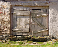 Vintage white doors Stock Image