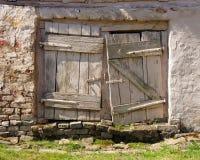 Vintage white doors Stock Image