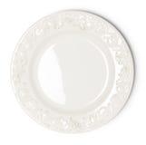 Vintage white empty plate Stock Photos