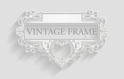 Vintage White Frame Background Stock Images