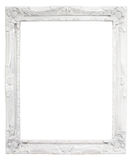Vintage white frame with blank space, with clipping path Royalty Free Stock Image