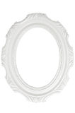 Vintage white frame with blank space, with clipping path Stock Photography