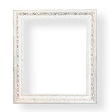 Vintage white frame with decorative. Royalty Free Stock Photography