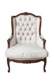 Vintage white leather chair Stock Photography