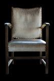 Vintage white leather chair Stock Photos