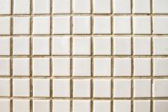 Vintage white mosaic floor Royalty Free Stock Photos