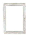 Vintage white photo frame Stock Photography