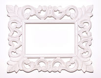 Vintage white picture frame Stock Photography