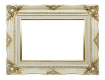 Vintage White Picture Frame Royalty Free Stock Photography