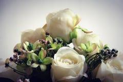 Vintage white roses Stock Image