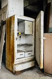 Vintage White Rusted Refrigerator - Abandoned Glass Factory Royalty Free Stock Photography