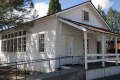 Vintage White School House. In Northern California stock images