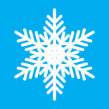 Vintage white snowflake icon Stock Photos