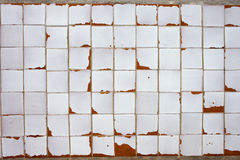 Vintage White Tiled Wall Background Royalty Free Stock Image