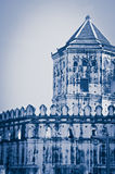 Vintage of white tower ,Phra Sumen Fort Stock Photos