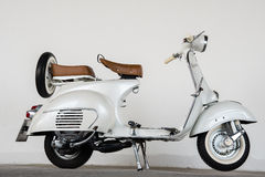 1964 vintage  white Vespa Royalty Free Stock Photos