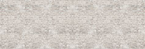 Vintage white wash brick wall texture for design. Panoramic background. For your text or image royalty free stock photo