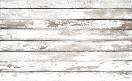 Vintage white wood background. Old weathered wooden plank painted in white color stock photography
