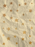 Vintage white wrapping paper with stars royalty free stock photography