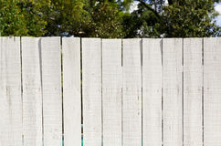 Vintage Whitewashed Board Fence Stock Images