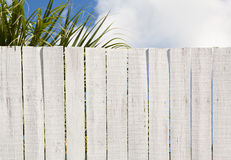 Vintage Whitewashed Board Fence Stock Photography